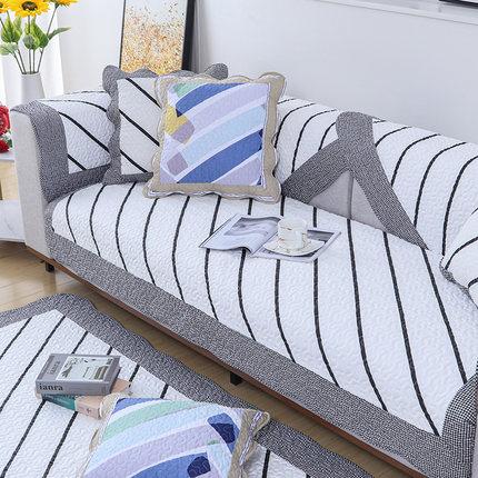Đệm lót SoFa Bốn mùa cotton chống trượt sofa đệm vải cotton đơn giản mùa đông đệm mục vụ kết hợp phổ
