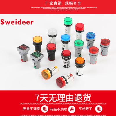 Sweideer Đèn tín hiệu Pin trực tiếp 22mm chỉ số ad16-22ds đồng hồ đo năng lượng đồng hồ năng lượng đ