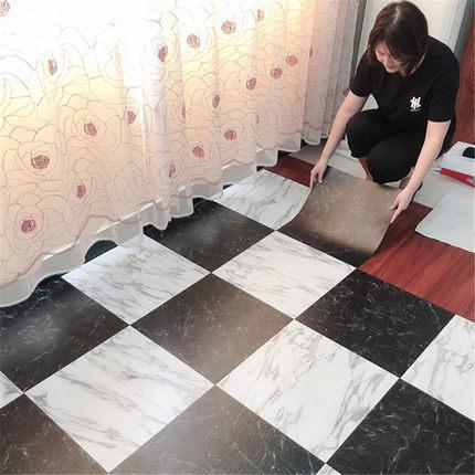 Qionghua Ván sàn  PVC dán sàn tự dính sàn da dày chống thấm đá sàn nhựa keo dán tường xi măng hộ gi