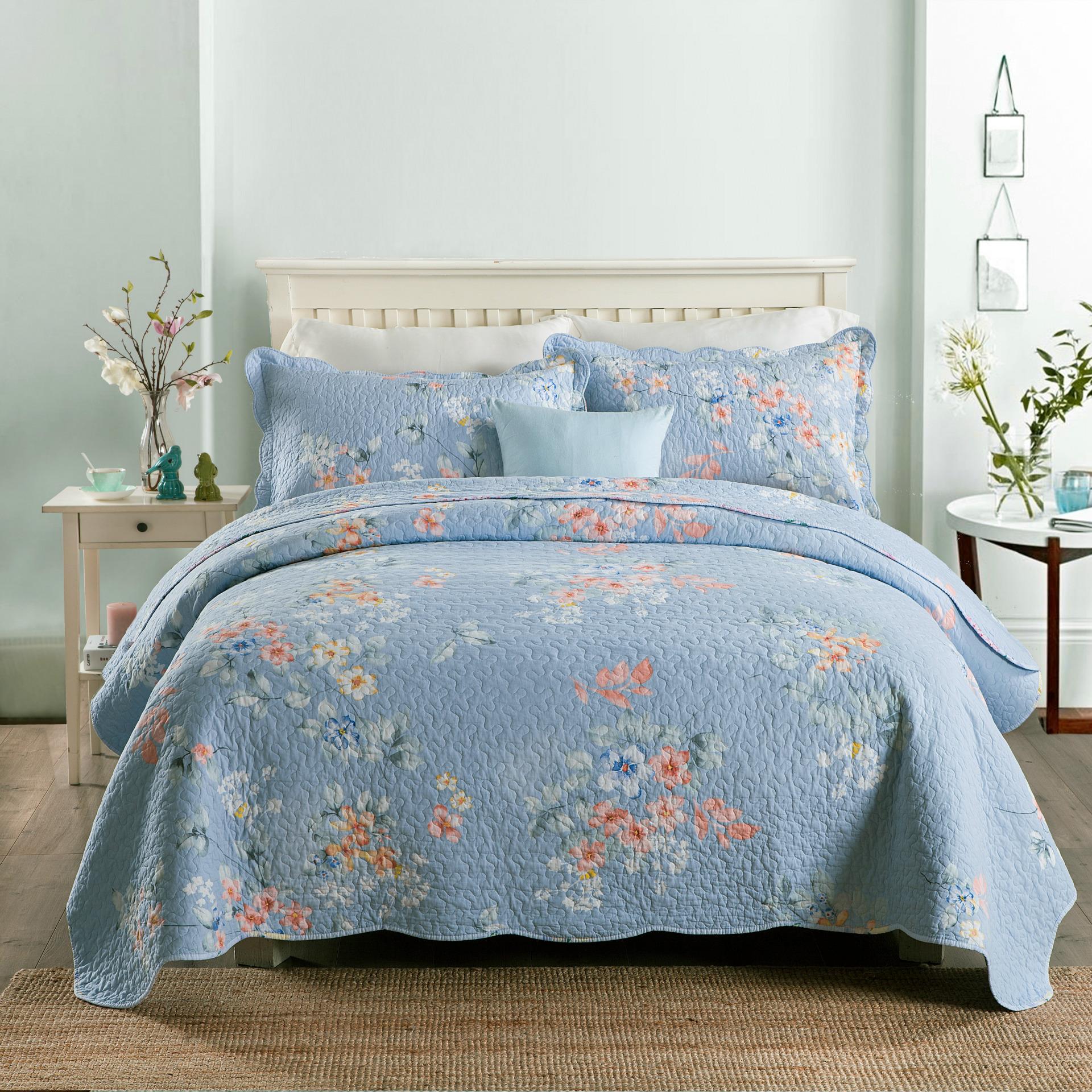 MILAIYA Bộ drap giường Cotton Twill Bộ ba mảnh