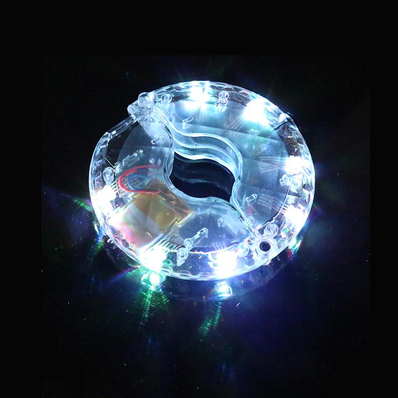 Fujizhe Xe một bánh tự cân bằng LED Xe đạp Hub Drum Light USB Sạc Hot Wheel 1 Light 7 Color Wheel Tr