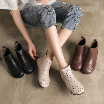 Giày da thời trang kiểu ủng ống cao dành cho nữ