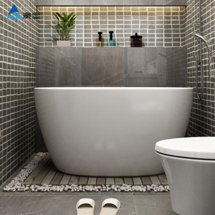 Aojin Bồn tắm acrylic bồn tắm nhà nhỏ căn hộ phòng tắm 1,2 mét người lớn bình thường đơn giản kiểu n