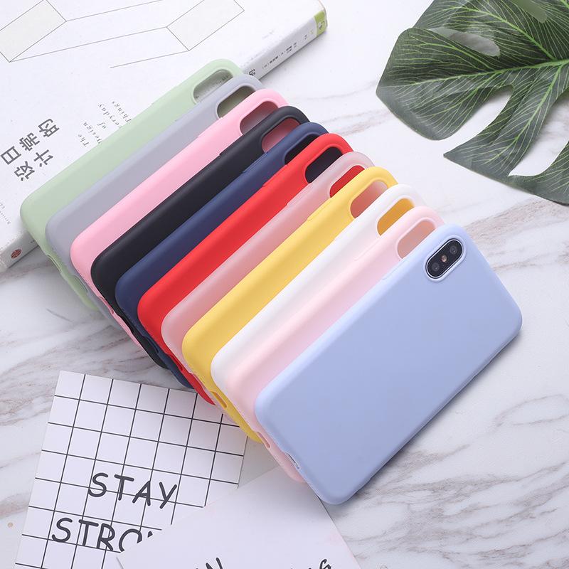 YOUSHUN bao da điện thoại Thích hợp cho vỏ điện thoại di động iphonex solid color xr 11 apple max na