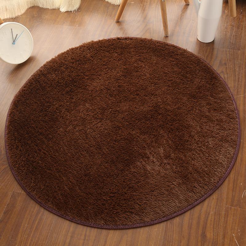YMR Đệm chân Thảm len sàn tròn thảm phòng khách phòng ngủ thảm sàn thảm máy tính ghế yoga mat nhà sả