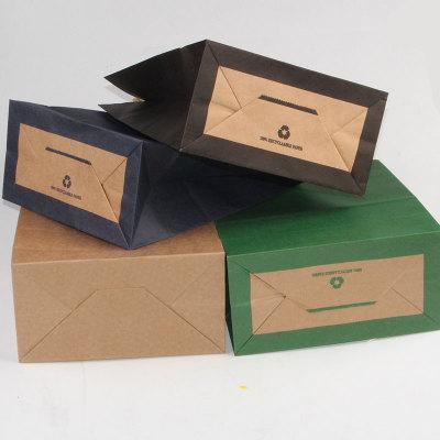 JINSHENG Túi giấy Bao bì da dày giấy túi thực phẩm đóng gói quần áo quà tặng mua sắm tote tùy chỉnh
