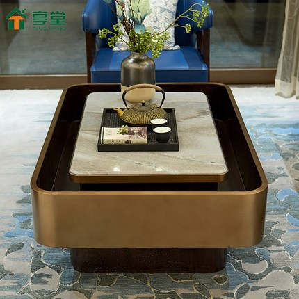 Đá hoa cương  Gian hàng tân cổ điển hậu hiện đại bàn cà phê đá cẩm thạch tự nhiên sáng tạo cá tính t