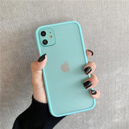Aigo bao da điện thoại Màu sắc tương phản được cá nhân hóa Bao đựng viền phong cách Hàn Quốc phù hợp
