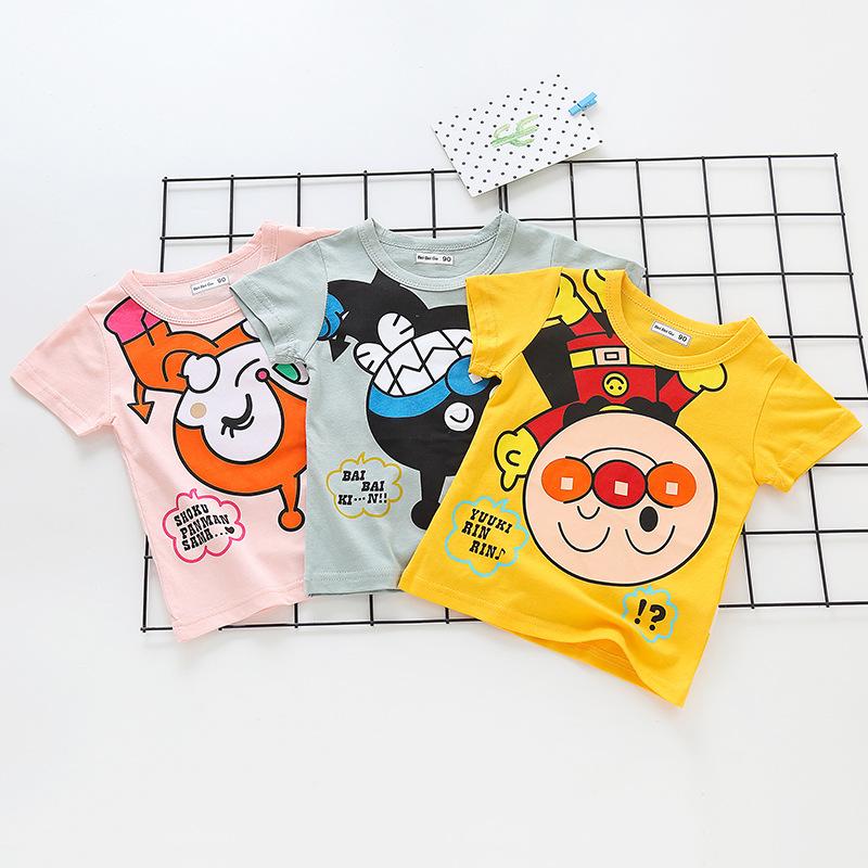 BEIBEIGU Phong cách Hàn Quốc Quần áo trẻ em hè 2020 mới cho trẻ em Hàn Quốc áo thun ngắn tay cotton