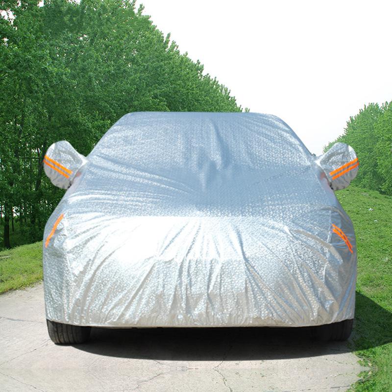 Áo trùm xe hơi Nhà máy sản xuất áo phim nhôm trực tiếp bán bông gòn dày chống nắng và áo tuyết phủ x