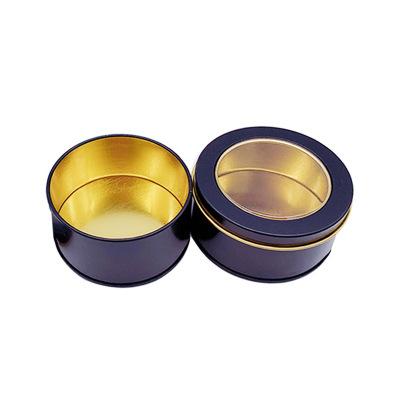 LIQIAO Hũ kim loại Nhà sản xuất bánh hộp thiếc hộp trà tùy chỉnh hộp thiếc tròn có thể cửa sổ ngựa m