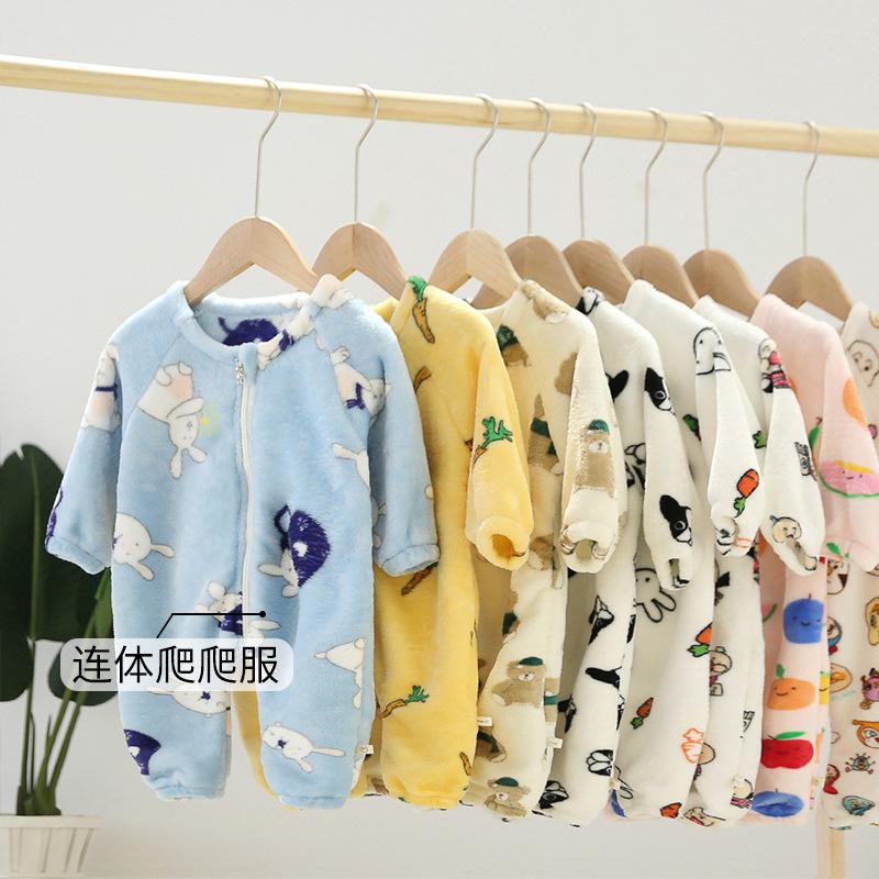 Túi ngủ trẻ em Quần áo trẻ em 2020 bé trai và bé gái hoạt hình in flannel dây kéo túi ngủ DL042