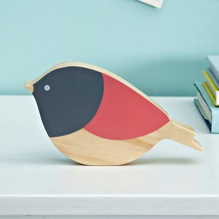 Mitu Baby Đồ trang trí bằng gỗ Đồ trang trí Bắc Âu sáng tạo chim sẻ gỗ chim sẻ máy tính để bàn đồ n
