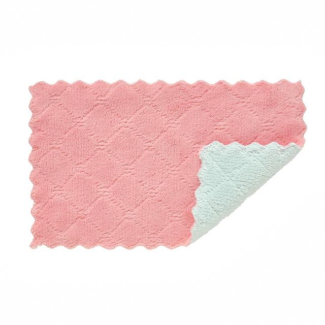 Khăn rửa chén Khăn lau chén đĩa hai mặt lau chùi hai màu khăn lau chén bát bếp không dầu và giẻ lau