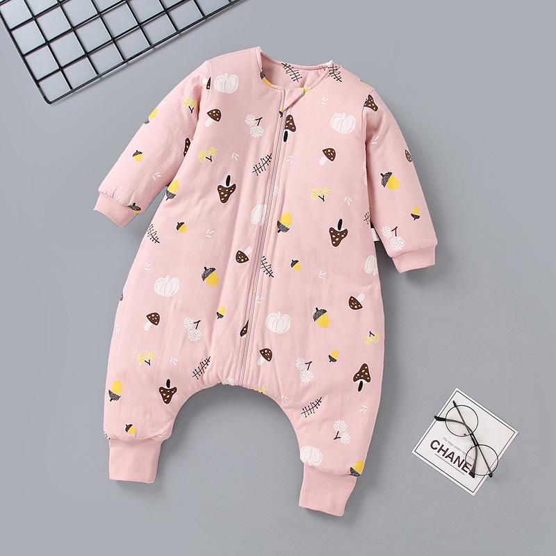 Túi ngủ trẻ em Quần áo trẻ em cotton mỏng túi ngủ mùa đông bé chia chân túi ngủ chống đá bởi quần áo