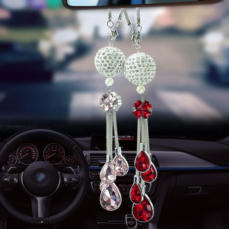 AICHENG Đồ trang trí móc treo Mặt dây gương chiếu hậu xe hơi, mặt dây chuyền kim loại, mặt dây chuyề