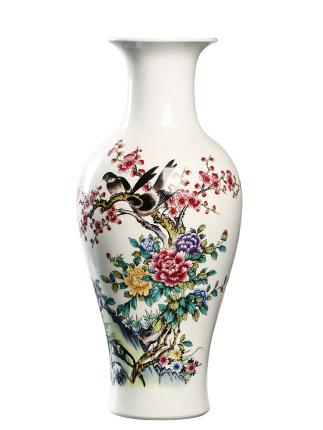 Jingqin Bình bông  Jingdezhen gốm khô hoa Vase phòng khách trang trí hoa Sắp xếp trang trí nhà hiện