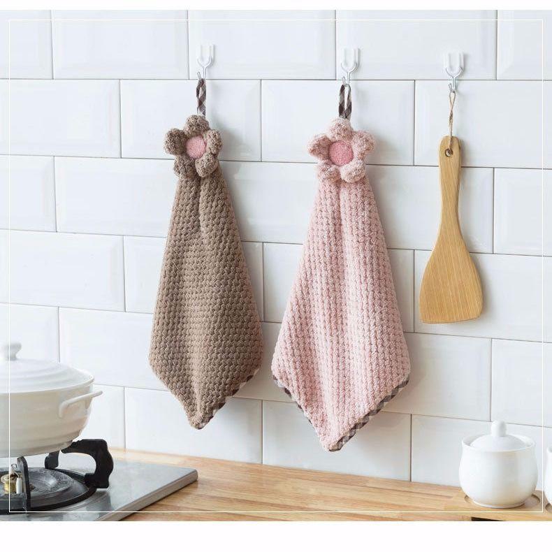 JJYJ Khăn tay lưới dứa trẻ em dễ thương khăn tay treo loại phòng tắm thấm khăn tay khăn khô khăn tay