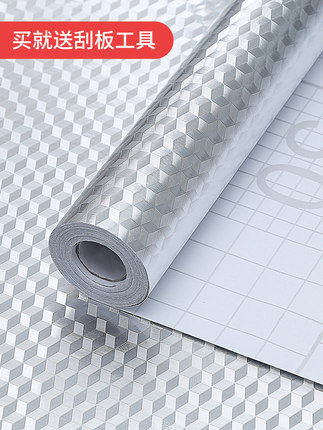 FANCY FIX Decal dán tường  Dán tường chống dầu nhà bếp tự dính giấy dán tường chống thấm ẩm chống ẩm
