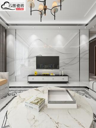Gạch men sứ  Voi Nhà nước TV tường gạch hiện đại tối giản vi tinh thể đá phòng khách đá cẩm thạch nề