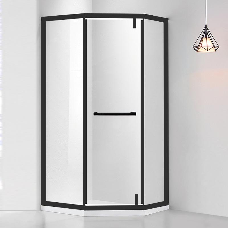 JINLI Bồn đứng tắm Phòng tắm kim cương màu đen tùy chỉnh tổng thể phòng tắm phòng tắm kính cường lực