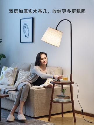 Pinshi Đèn âm đất  Đèn sàn phòng khách đèn ngủ sáng tạo gỗ Bắc Âu Đèn sàn Mỹ Châu Âu kệ dọc đèn bàn