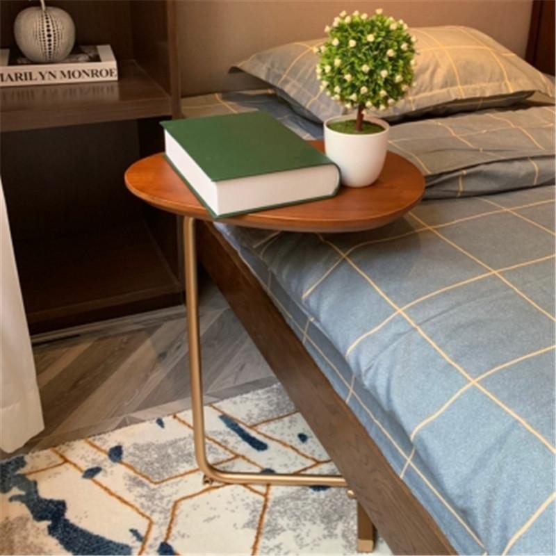 CHUANGDA Bàn trà Bắc Âu tối giản sofa có thể tháo rời nghệ thuật bàn trà phòng ngủ giường gỗ rắn bên