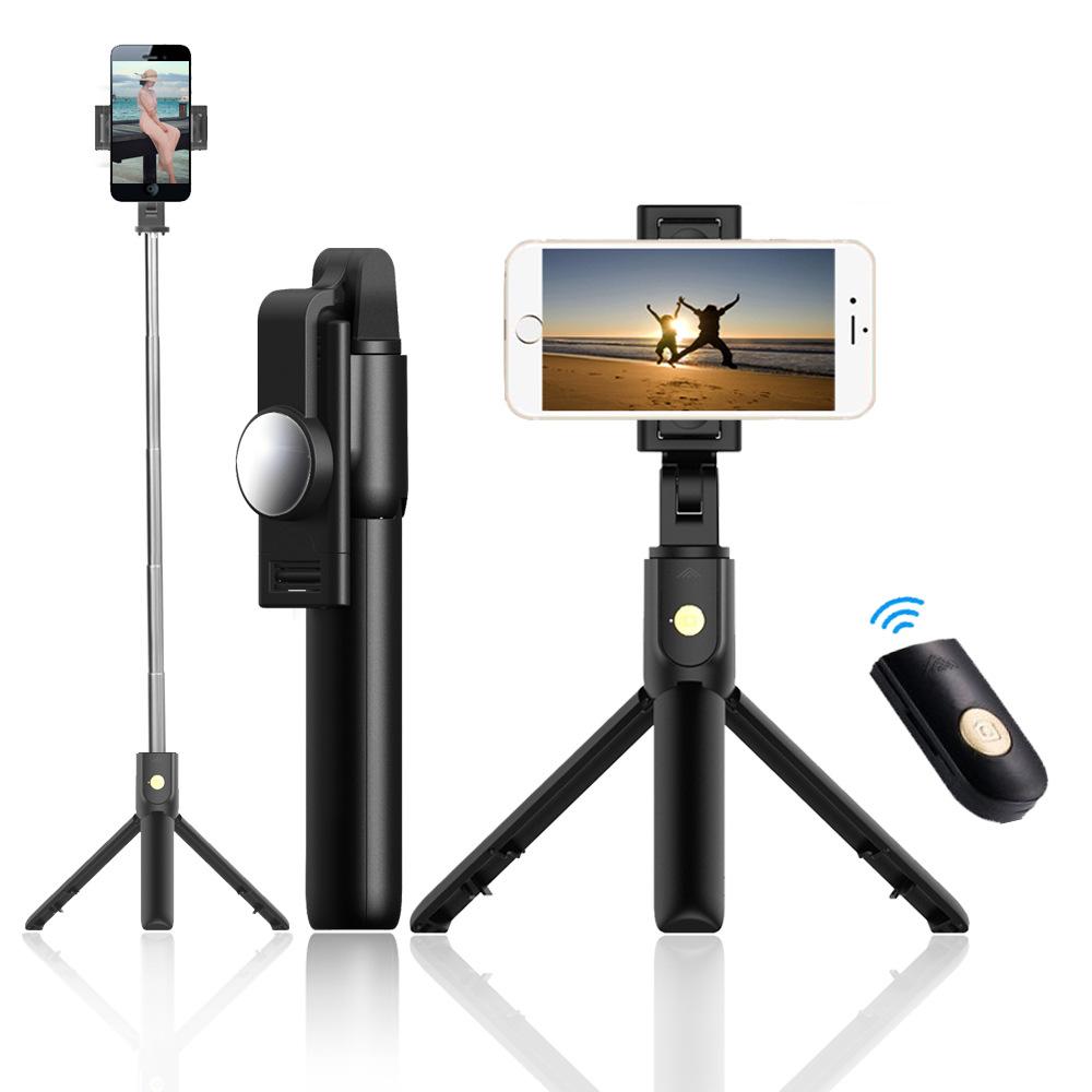 SelfieCom Gây tự sướng Bluetooth selfie stick khung điện thoại di động bắn ngang bắn dọc chân máy ản