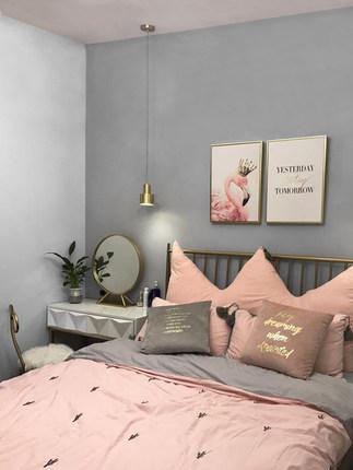 Giấy dán tường  Phong cách Bắc Âu tường màu rắn bao gồm hiện đại tối giản màu xám phòng khách phòng