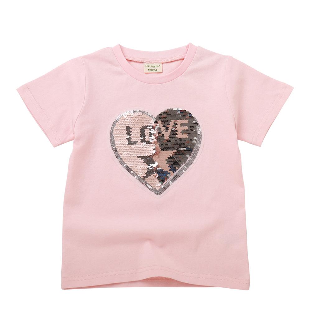Trang phục trẻ em mùa hè Quần áo trẻ em nữ mùa hè 2019 Áo phông trẻ em thời trang hoạt hình ngắn tay