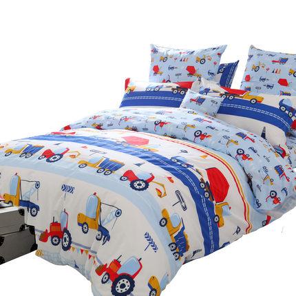 Bộ drap giường  Tôi yêu hàng dệt gia dụng, bông, bộ phim hoạt hình bốn mảnh cotton, bộ đồ giường tr