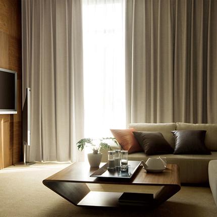 Gafuhome rèm cửa sổ   hiện đại đơn giản rắn màu lưới dày bảo vệ môi trường đầy đủ che bóng phòng ngủ