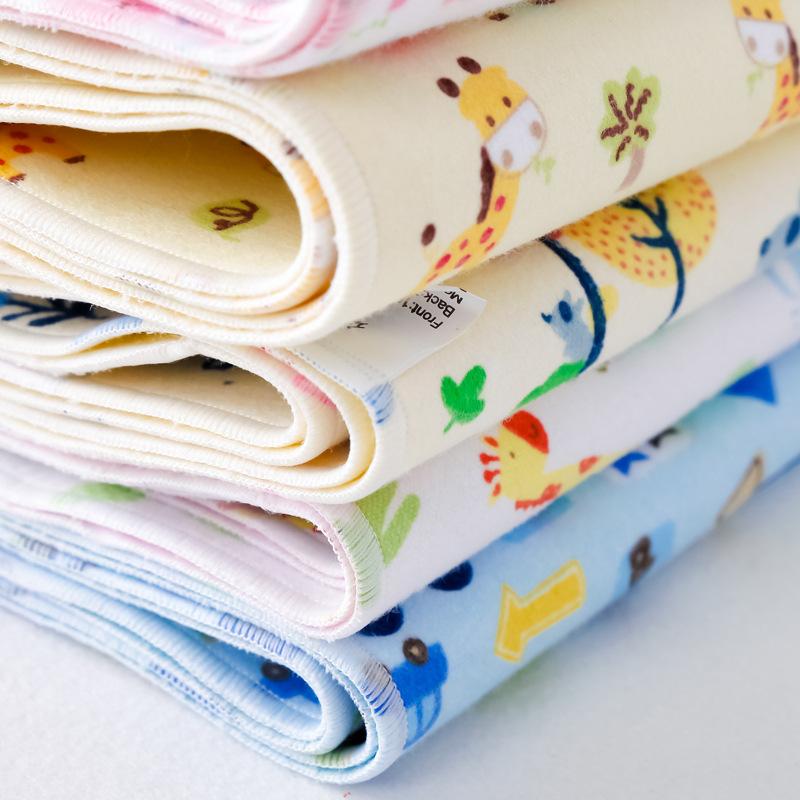 Tấm lót chống thấm 6 miếng lót tã cho bé bằng vải bông thấm nước nệm chống thấm pad có thể giặt được