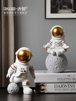 Đồ trang trí bằng cao su  Phi hành gia sáng tạo Bắc Âu đồ trang trí nhỏ phi hành gia phòng khách hiệ