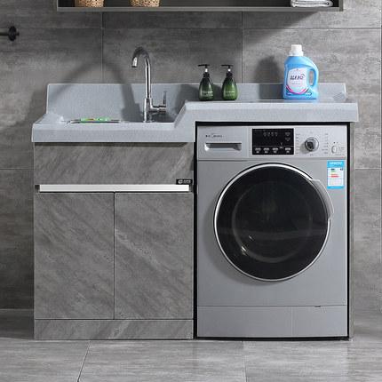 Faino Tủ phòng tắm  tủ giặt ban công lưu vực truy cập với bảng giặt inox hồ bơi máy giặt đồng hành t