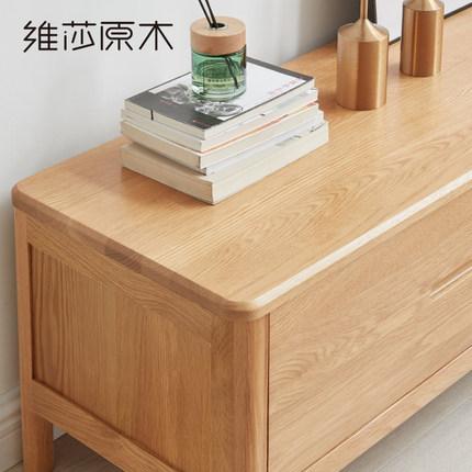 VisaKệ Tivi   tủ gỗ rắn 1,8 / 2 mét gỗ sồi đơn giản hiện đại căn hộ nhỏ bảo vệ môi trường phòng khác