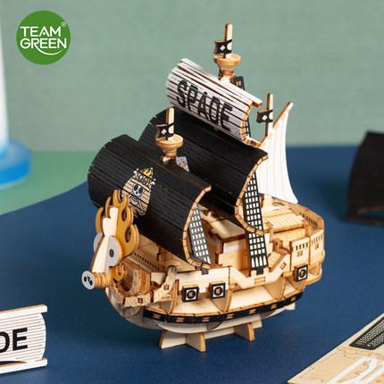 JIGZLE Tranh xếp hình 3D TeamGreen Mô hình ghép hình 3D bằng gỗ dành cho người lớn Một mảnh lắp ráp