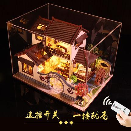 toclick Tranh xếp hình 3D Sáng tạo thủ công Trung Quốc phong cách xây dựng tự làm tiểu 3d mô hình câ