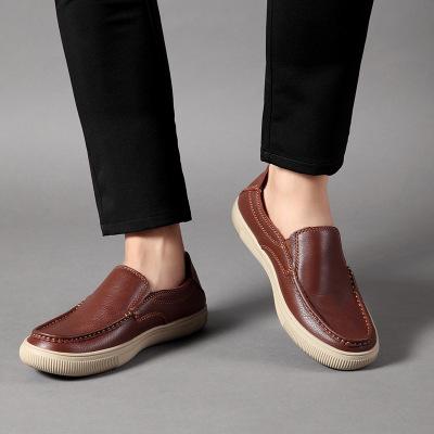 Giày da Nhà máy giày tại chỗ bán buôn giày lười nam da thường giày mùa thu và mùa đông mới đơn giản