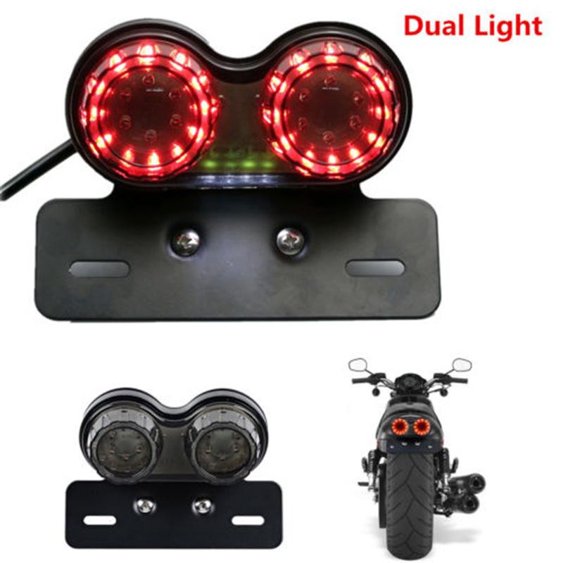 HAOHUI đèn xe Đèn hậu LED đa năng cho xe máy, đèn phanh, đèn chạy ban đêm, đèn báo rẽ, đèn hậu tích