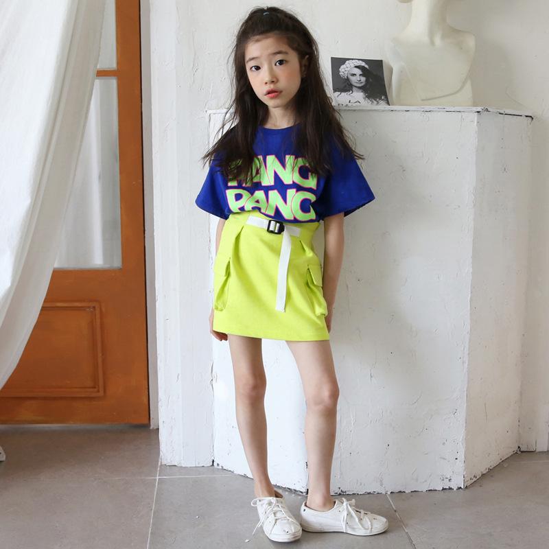 Enyakids Đồ Suits trẻ em Mùa hè 2020 cô gái thời trang mới giản dị Áo phông + váy ngắn xu hướng phù