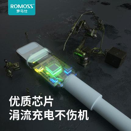 Rome Dây USB chính thức iPhone6s Cáp dữ liệu Apple iphone5s / 6/7/8 ipad sạc nhanh điện thoại di độn