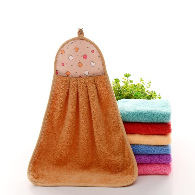 XINGCAN khăn lau tay Bán trực tiếp khăn bếp mềm và siêu thấm khăn nhung san hô bán buôn tùy chỉnh