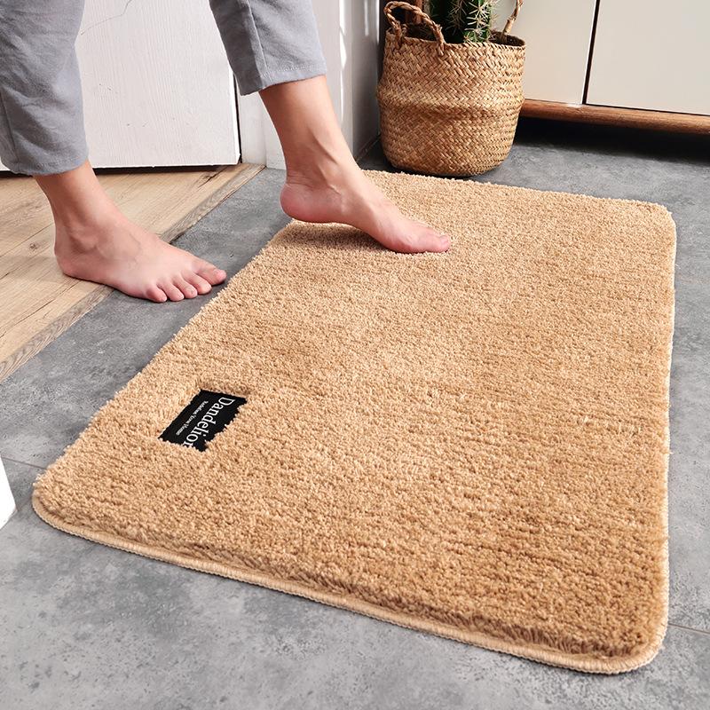 Dajiang Đệm chân dandelion sợi dày hộ gia đình pad cửa mat đơn giản rắn màu phòng tắm cửa chống trượ