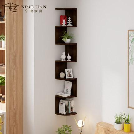 Ván trang trí  Kệ sách treo tường kệ treo tường phòng khách lưu trữ giá góc góc phòng ngủ tam giác h