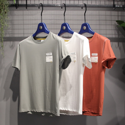 áo thun Áo sơ mi ngắn tay áo của người đàn ông thoải mái nhật bản mùa hè 2020 mùa hè mới bông cổ áo