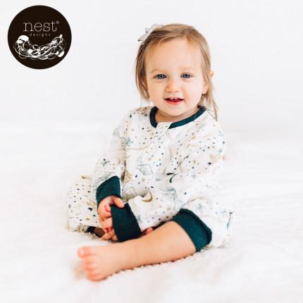 Nest Design Túi ngủ trẻ em  túi ngủ mùa xuân và mùa thu gạc cho trẻ em dài tay chia túi ngủ chống đá