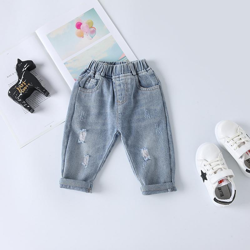 Quần trẻ em 2020 quần áo trẻ em mùa xuân quần trẻ em Hàn Quốc quần bé trai quần jeans giản dị quần b
