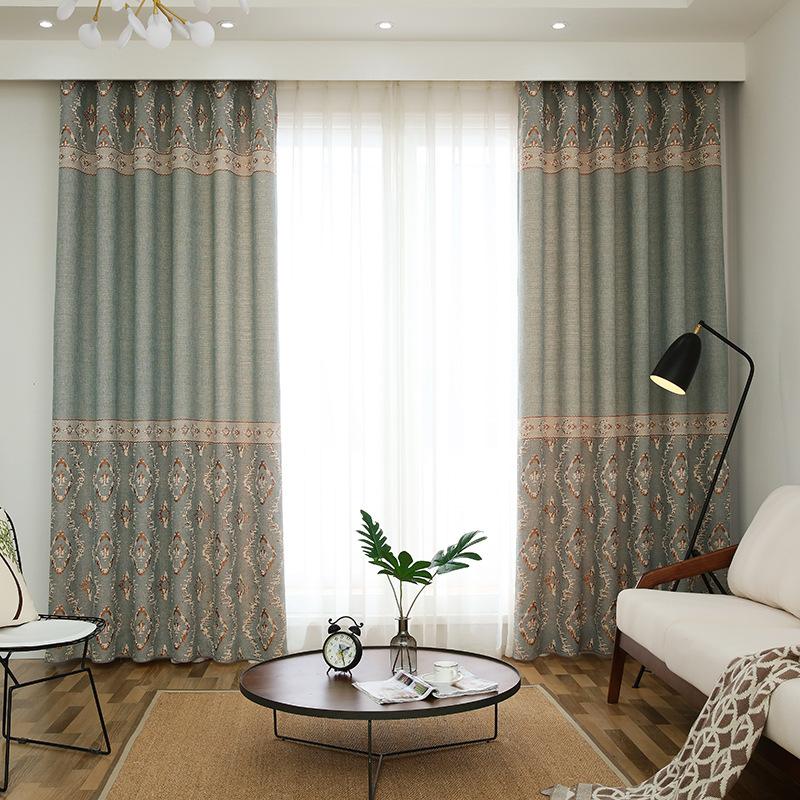 MAOSHENG rèm cửa sổ Nhà máy Outlet vải lanh đơn giản Jacquard rèm vải