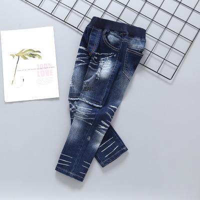 JBBE quần Jean 2020 quần jean bé trai mới vừa và quần rộng cho trẻ em Quần dài trẻ em Hàn Quốc